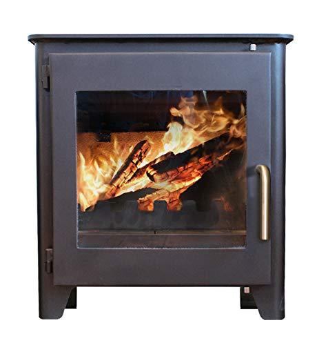 Saltfire ST1 Vision Wood Burner Stove 5kW DEFRA Approved EcoDesign Clean Burn High Efficiency Wood...