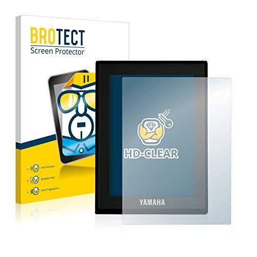 BROTECT Schutzfolie kompatibel mit Yamaha LCD Display (E-Bike Display) (2 Stück) klare Displayschutz-Folie