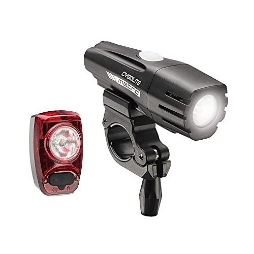 Cygolite Metro 700 Lumen Headlight and Hotshot 100 Lumen Tail Light USB Rechargeable Bike Light Combo Set