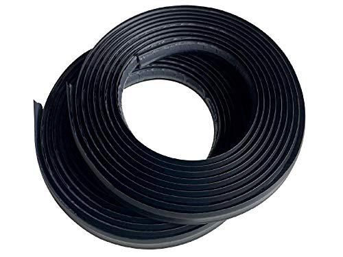 Instatrim 1/2 Inch (Covers 1/4 Gap) Flexible, Self-Adhesive, Caulk and Trim Strips for Floors, Ceilings, Countertops and More (Black, 10ft Long, 2 Pack)