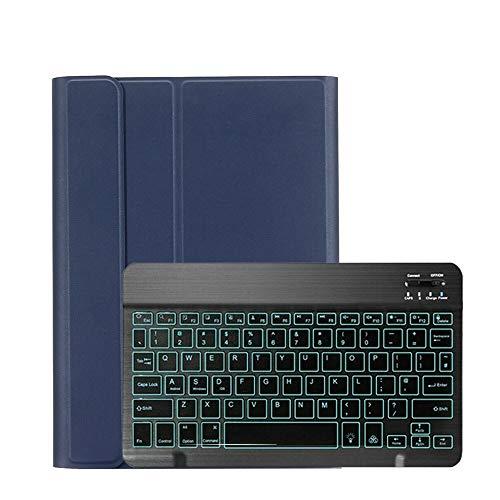HHF Pad Accesorios para iPad Mini 1 2 3 7.9 Pulgadas, retroiluminación Funda inalámbrica de Teclado Teclado PU de Cuero Funda para iPad Mini 1 2 3 7.9' (Color : Azul)