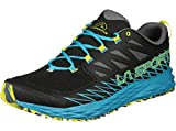 La Sportiva Lycan, Zapatillas de Trail Running para Hombre, Multicolor (Black/Tropical Blue 000), 43 EU