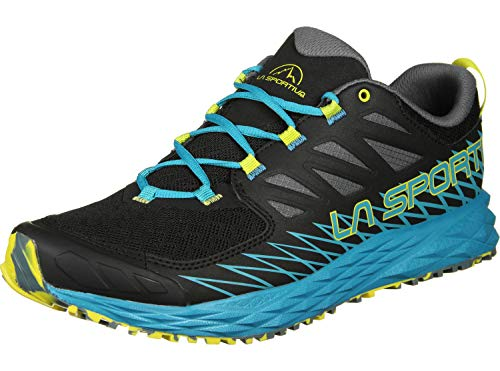 La Sportiva Lycan, Zapatillas de Trail Running para Hombre, Multicolor (Black/Tropical Blue 000), 45 EU