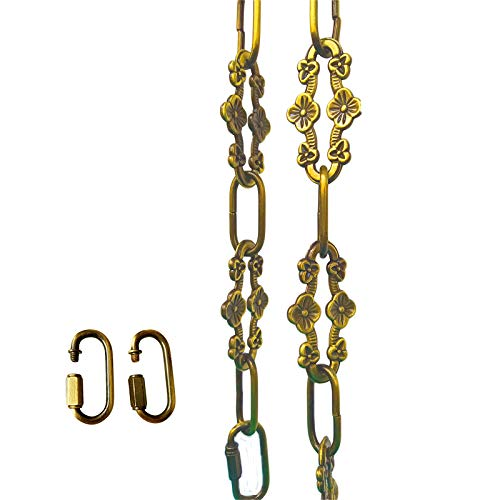 WOERFU 32 inch Antique Gold bronze Decorative Plum buckle Chain for Hanging Lighting (Gold bronze)