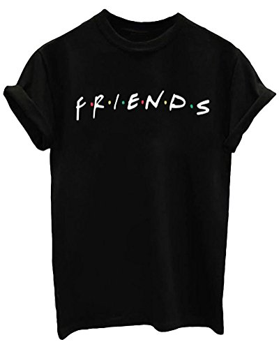 LOOKFACE Women's Cute T Shirt Junior Tops Teen Girls Graphic Tees Black Small