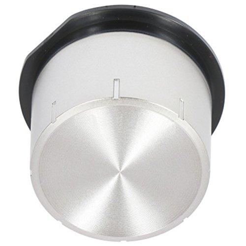 Spares2go - Pomo de interruptor de control para horno microondas Samsung, color plateado