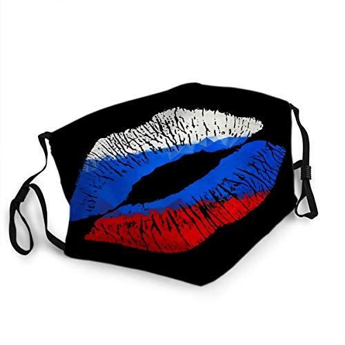 Wiederverwendbarer Gesichtsschutz Mundschutz Russischer Lippenstift Kuss Eps