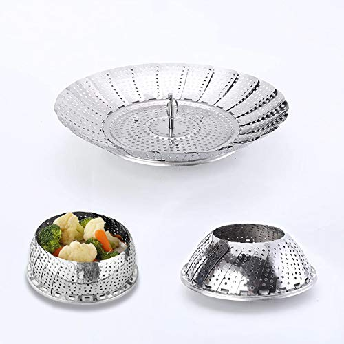 "Steamer,Basket,Vegetable Steamer Basket,Broccoli fish steamer pot,Pans for cooking,Larger size for more things(9.2"")"
