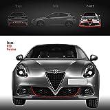 Tamaño: 11 mm x 1,15 metros. Quattroerre 31861 Perfil rojo adhesivo para parachoques delantero Alfa Giulietta con adhesivo 3M APT