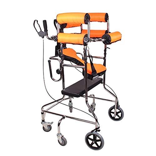 Relaxbx Klappbare Rollator-Gehhilfe mit Sitz und Unterarmstütze Armlehnen Höhenverstellbar Stehende Gehhilfe Limited Mobile sechsrädrige Zusatz-Sitzplatte