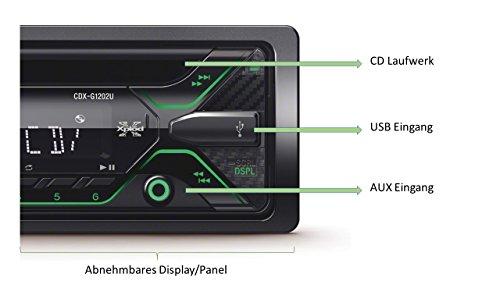 Sony-CDXG1200UEUR-Autoradio-CD-Player-USBAux-Eingang-4-x-55-Watt-Extra-Bass