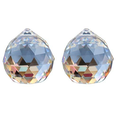 OUNONA Kristallkugel Kristal Prismen f¨¹r Lampe Kronleuchter Sonnenfnger zum Aufhngen 2 St¨¹ck