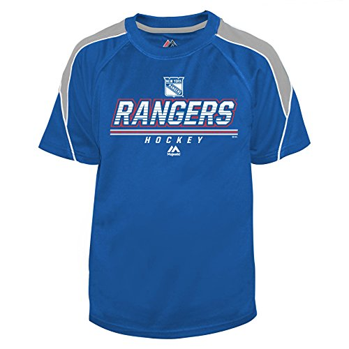 NHL New York Rangers Big & Tall Team Synth Screen Print Tee, Large, Royal/Grey/White