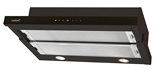 CATA TF 3600 - Campana (Metal, 2 piezas, 600 mm, 440 mm, 140 mm, Halógeno) Negro: Amazon.es: Grandes electrodomésticos