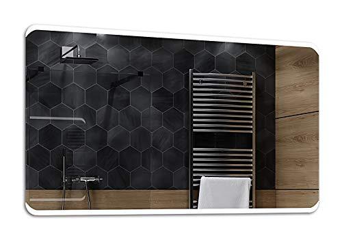 ALASTA® Miroir   LED Miroir Mural   120x80cm   Modena   Nouvelle Génération Miroir Mural   Blanc Froid/Chaud en Option