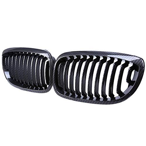 Hatime E46 2 deurs Front Grille Grill, Carbon Fibre Kijk, Facelift, 2 stks