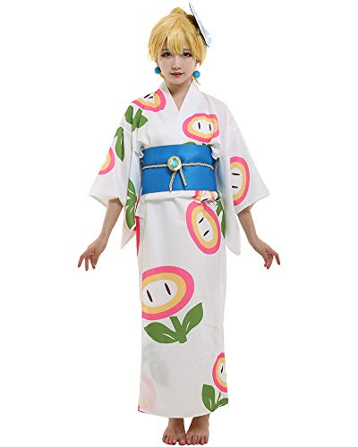 Coskidz Women's Princess Peach Kimono Cosplay Costume (S/M, Multicolored)