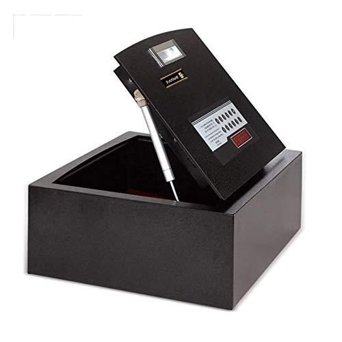HIZLJJ Cajas Fuertes y Cerraduras - Caja Fuerte Resistente al Fuego de Seguridad de Acero con Cerradura Digital, Flip-Top Diseño Caja de Almacenamiento electrónico Contraseña