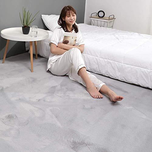 Ultraweiche Faux-Pelzbereich Teppich, dicke feste Farbe Kaninchen-Pelz-Teppich-Sofa-Cover-Bett-Teppich für Wohnzimmer-Schlafzimmer Kinder-Raum-hellbraun 180x220cm (71x98 Zoll), Y, 80x180cm (31x71inch)