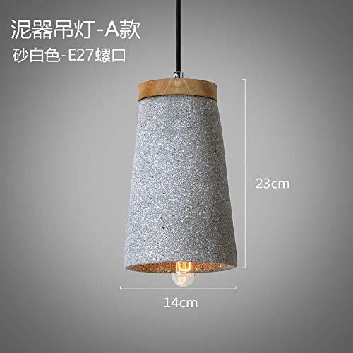 Lámparas modernas lámpara de viento industrial araña de cemento retro nostálgica moderna personalidad creativa minimalista loft art restaurante de una sola cabeza @ arena blanca_sin bombilla