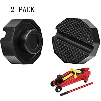 SuboTech 2 Pcs Car Jack Rubber pad - Jacks Rubber pad-Tuning, Rubber Support Jack Universal and Robust (65 x 35mm). Round Groove for More Stability and Support.