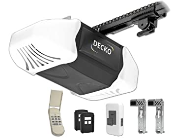 Decko 24300 3/4 Horse Power Heavy Duty Reduced Noise Chain Drive Garage Door Opener