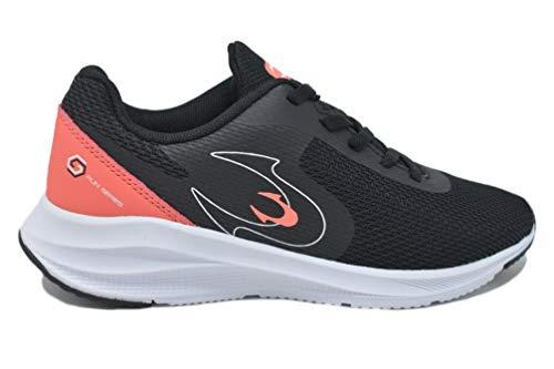 JOHN SMITH RIDENDOS W, Zapatillas de Running Mujer, Negro/Coral, 36 EU