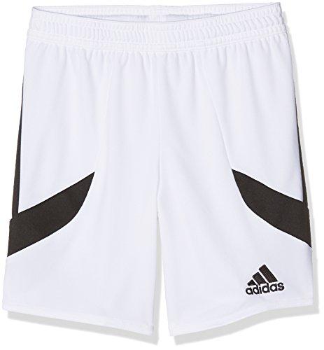 Adidas Nova 14 SHO, Short Garçon, Blanc (White/Black), 8 ans