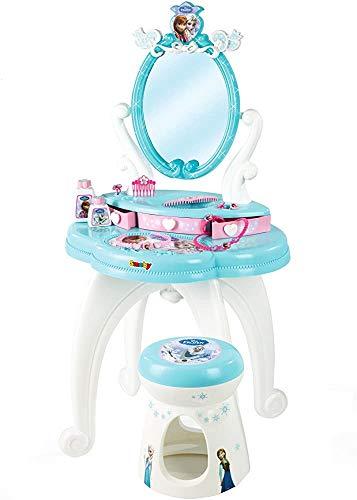 Espejos de tocador tocador de música azul muchacha de lujo juegan parque infantil glamour vestir la mesa con las heces,Blue