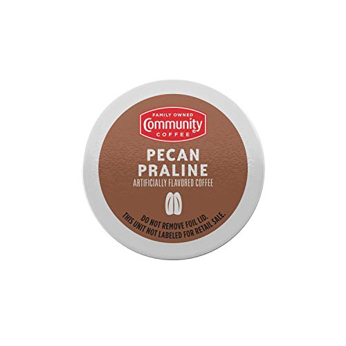 Community Coffee Pecan Praline Flavored 24 Count Coffee Pods, Medium Roast, Compatible with Keurig 2.0 K-Cup Brewers, Box of 24 Pods