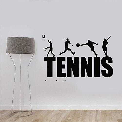 wandaufkleber 3d Wandtattoo Wohnzimmer Tennisschläger Sport Bild Wallpaper Aufkleber Removeble Home Decor