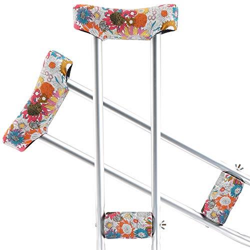 TOMMHANES AMISGUOER Crutch Underarm Pads Crutch Pad Crutch Hand Grip Covers Crutch Cover Washable OneSize (2 Armpit, 2 Hand Cushion) (CP16R)