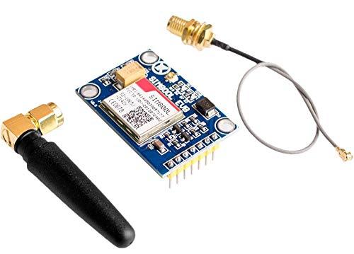 TECNOIOT SIM800L V2.0 5V Wireless GSM GPRS Module Quad-Band with Antenna Cable Cap |SIM800L Wireless GPRS GSM-Modul SIM-Karte 5V Quadband Quad Band L-Form-Antenne für Arduino