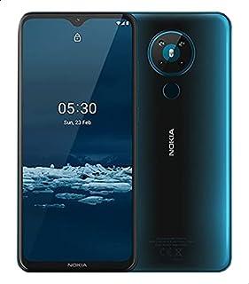 موبايل نوكيا 5.3 TA-1234 بشريحتين اتصال، شاشة 6.55 بوصة، 4 جيجابايت رام، 64 جيجابايت، شبكة الجيل الرابع ال تي اي - ازرق سماوي