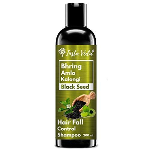 Insta Veda Bhring Amla Kalonji Shampoo | For Hair Growth & Hair Loss Control | Hair Fall Control & Anti Dandruff Shampoo for Dry & Frizzy Hair With Maha Bhringraj , Amla & Kalonji-200 ML