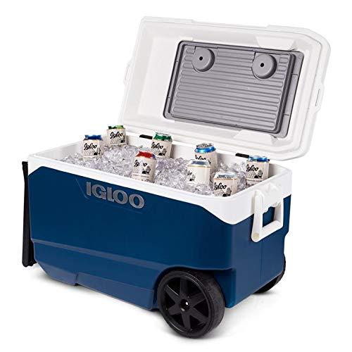IGLOO COS2000542 - Enfriador con Ruedas (90 Cuartos de galón, se Adapta a hasta 137 latas, hasta 5 días de retención de Hielo)