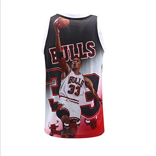 NBA New Hombre Uniformes de Baloncesto Personalizado Pippen Jersey Capacitación Juego Deportes Uniformes Verano Campus Uniformes (Color : B2, Size : XL)