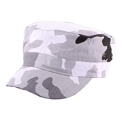 Nyls Création Casquette Army Camouflage Gris et Blanc - Mixte
