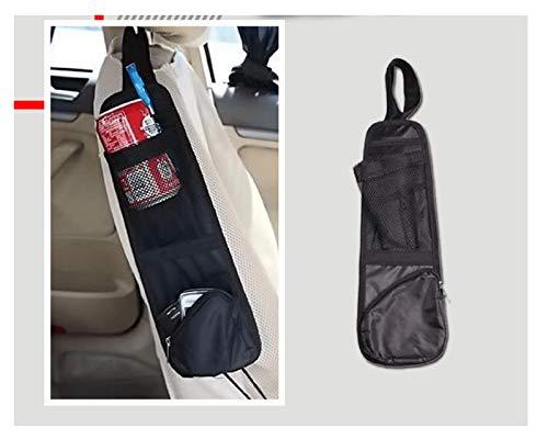 TIREOW Organizer Für Rücksitzautos, wasserdichte Reisetasche, Rückentasche Für Autositze, Flaschentasche Halter Für Wasserflaschen, 37 X 12,5cm (Schwarz)