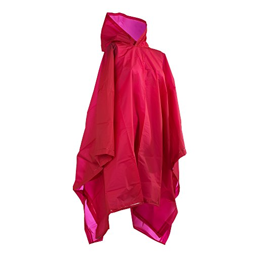 totes womens Hooded Poncho raincoats, Red, One Size US