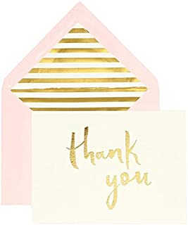 kate spade new york Bridal Note Card Set - Thank You (Gold)