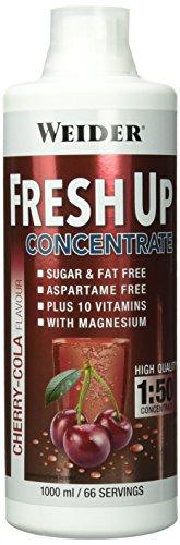 Weider Fresh Up Getränkekonzentrat, Kirsch-Cola, zuckerfrei mit Vitaminen und Mineralstoffen, 1 Liter