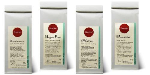 Kräutertee Biotee Quertee® Nr. 11 - 4 x 50 g Bio Tee - Wellness Set für Frauen - Frauentee