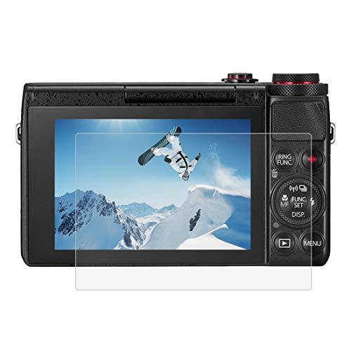 Gehärtetem Glas Displayschutzfolie für Canon G7X/G9X/G5X, 0,3 mm ultraklare LCD-Schutzfolien mit 9H Härte, Anti-scrach, Blasenfreie, Anti Fingerprint (G7X/G9X/G5X)