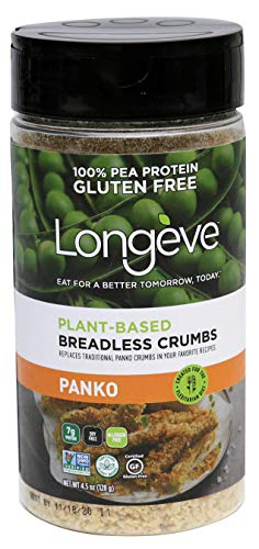 Longève Gluten-Free Bread-less Crumbs (PANKO), Breadcrumb Alternative, Premium Product – 4.5 Ounce