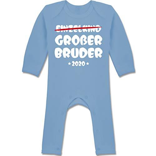 Shirtracer Geschwisterliebe Baby - Einzelkind Großer Bruder 2020-6/12 Monate - Babyblau - Baby Bomberjacke Junge - BZ13 - Baby-Body Langarm für Jungen und Mädchen