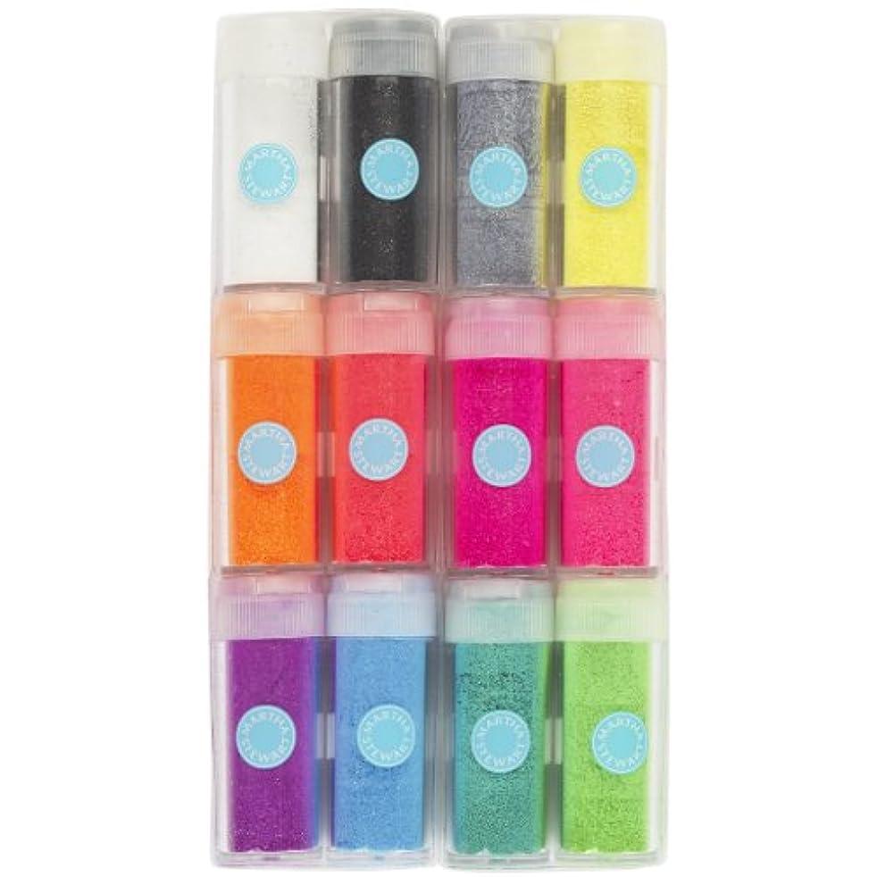 Martha Stewart Crafts EK Success Neon Glitter, 12-Pack