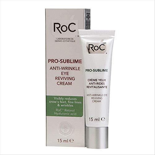 RoC - Crema revitalizadora de ojos anti-arrugas Pro-Sublime - Antiedad - Ácido hialurónico - Retinol - 15 ml