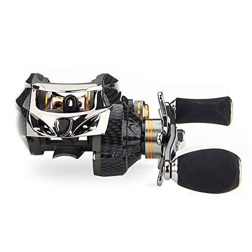 WHyLsL BaitCasting Angelrolle 18 + 1 Lager 6.3: 1 RatioLeft/rechts Handkreisel Tuned Brems Low ProfileFishing Reel (Color : Black, Use Mode : Left Hand)