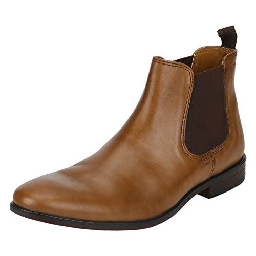 Red Tape Men's Tan Leather Footwear-9 UK (43 EU) (RTE1833)